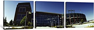 """iCanvasART 3 Piece Facade of a Stadium, Lambeau Field, Green Bay, Wisconsin, USA Canvas Print by Panoramic Images, 48"""" x 1..."""