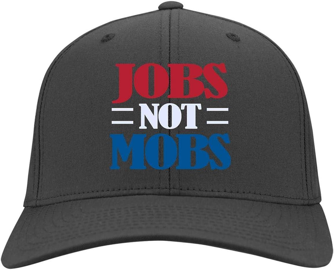 Jobs Not Mobs Pro Trump 2020 Gift Twill Cap High-Profile Snapback Hat