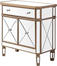 Decor Central Drawer 1 Shelf 2 Doors Cabinet 32 Hand Rubbed Antique Gold Finish