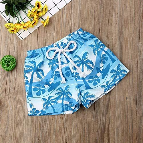 Pantalones cortos de playa para chico con estampado suelto, pantalones cortos de playa, pantalones cortos deportivos (color: azul, talla: 90)