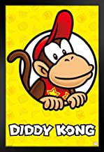 Pyramid America Diddy Kong Portrait Nintendo Black Wood Framed Art Poster 14x20 inch