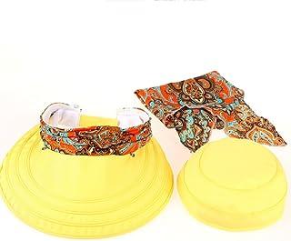 AINIYF Women Sun Hat Packable Summer Outdoor Wide Brim Sun Hat Cap Neck Face Flap Hat (Color : Yellow)