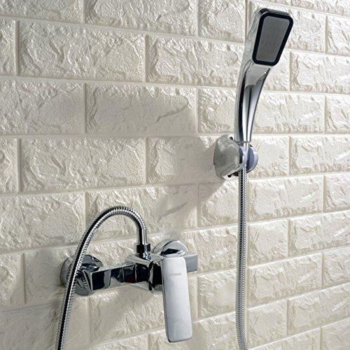 Bijjaladeva mengkraan voor wastafels, waterkraan voor badkamer, eenvoudige uitvoering, douchekop, douche, waterafvoer, ventiel voor drievoudige menging, badkuip, rubber