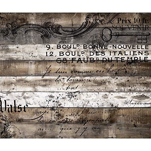 decomonkey Fototapete Holz Vintage 400x280 cm XL Tapete Fototapeten Vlies Tapeten Vliestapete Wandtapete moderne Wandbild Wand Schlafzimmer Wohnzimmer Holzwand Retro