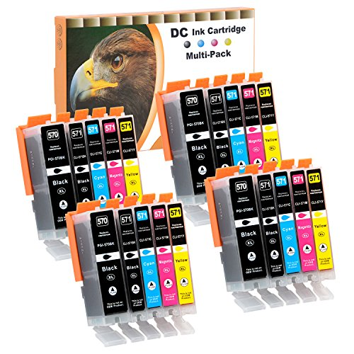 D&C 20x Druckerpatronen Kompatibel mit Canon PGI-570 PGI570 CLI-571 CLI570 für Canon PIXMA MG5753 MG6800 MG6850 MG6851 MG6852 MG6853 MG7700 MG7750 MG7751 MG7752 MG7753 TS5050 TS5051 TS5053 TS5055