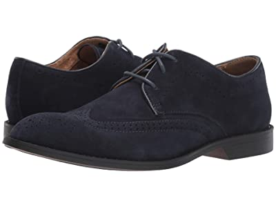 Stacy Adams Wickersham Wing Tip Oxford (Navy Suede) Men