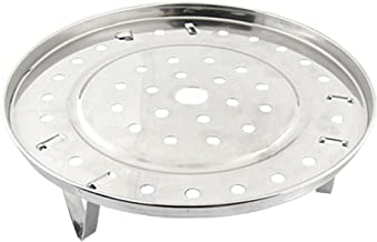 uxcell Metal Steaming Rack Tray Steaming Stand Canning Racks Steamer Insert Stock Pot Steaming Tray Stand W Stand for Cooker Silver Tone