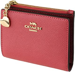 Coach Snap Card Case with Charm Poppy 91052