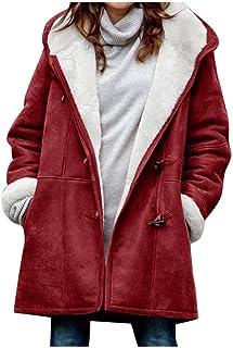 YUYOUG Manteau Polaire Chaud en Molleton Zipp/é /à Manches Longues pour Femmes Manteau /à Capuche Hiver