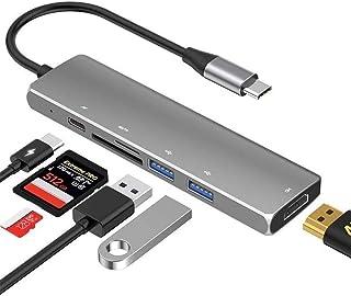 JUNPE Porta USB Multipla per Pc Tipo-c Docking Station USB Hub Hub Multifunzione Stazione di Aggancio HDMI Rj45 C Power De...