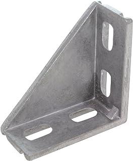10 x ángulos 20/40 mm para M5 ranura 6 aluminio fundido a presión en blanco