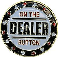 カードガードのディーラーボタンポーカーガードポーカーディーラーEcht vergoldet、Poker Accessories