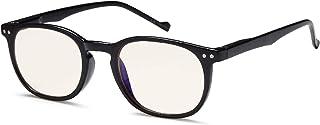 (2.50x, Black Vintage Round Frame) - GAMMA RAY 010 Slim Vintage Computer Readers Reading Glasses Anti Reflective Anti Glar...