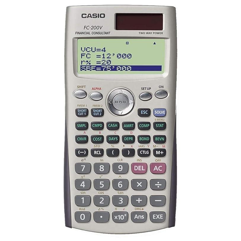 応じるドループ蘇生するカシオ 金融電卓 10桁 FC-200V-N