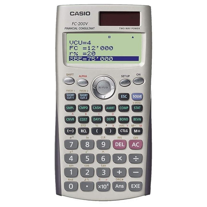 汚れた行う風邪をひくカシオ 金融電卓 10桁 FC-200V-N