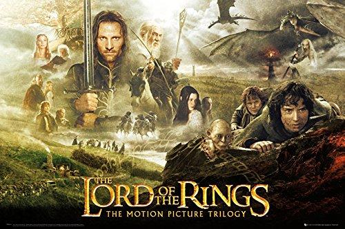 GB eye Herr der Ringe Poster Trilogie, Mehrfarbig