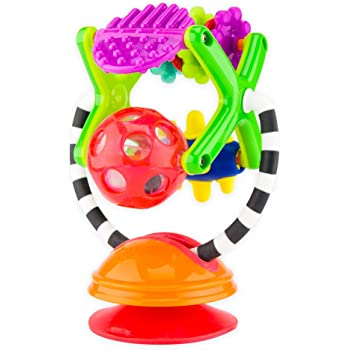 Sassy Teethe & Twirl Sensation Station 2-in-1 Suction Cup High Chair Toy   Developmental Tray Toy for Early Learning   for Ages 6 Months and Up