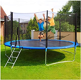 Toimothcn Kids Trampoline, 12 FT Kids Outdoor Trampoline with Enclosure Net Jumping Mat and Spring Cover Padding