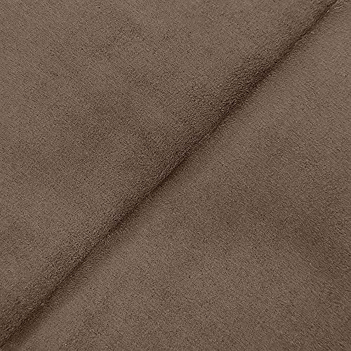 DESHOME Alessia 10 metri - Tessuto al metro scamosciato in Microfibra Idrorepellente Stoffa per tappezzeria divani, cuscini, complementi d'arredo (Grigio marrone)