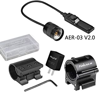 Fenix Bundle ALG 00 Mount, AER-03 Remote Pressure Switch,ALG-01 Rail Mount,Adapter,Battery case