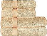 Juego de toallas de lujo (4 piezas) – 2 toallas de ducha de 70 x 140 cm y 2...