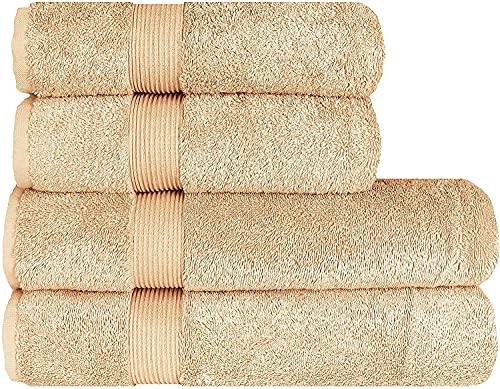 Juego de toallas de lujo (4 piezas) – 2 toallas de ducha de 70 x 140 cm y 2 toallas de mano de 50...