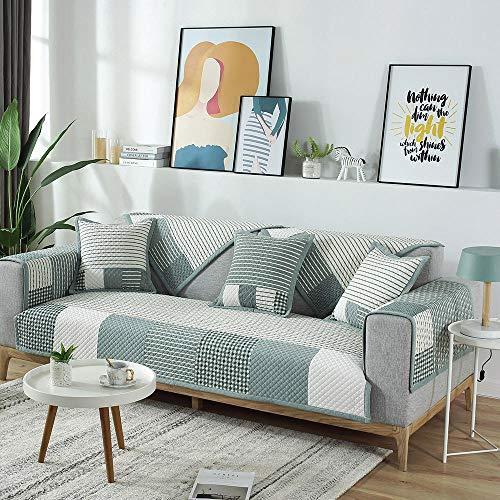 Suuki Zuhause Corner Sofa Slip Covers,Sofa Möbel Protector,rutschfeste Couch-Schonbezug aus Baumwolle,Sofabezüge für Ledersofa,Wohnzimmerdekoration,Möbelschutz-B_90 * 210 cm
