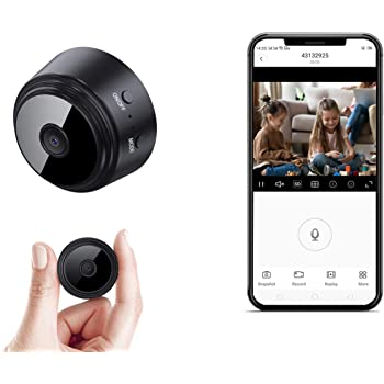 Mini Spy-Camera-WiFi with Audio and Video Recording, OUCAM Wireless Hidden Camera Home Security Nanny Cam Real Time Streaming/No Light Night Vision/Motion Detection(Not Include SD Card)