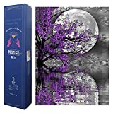 Full Round/Square Drill Diamond Painting Kit for Adults,Moon Night Tree 5D DIY Rhinestone Embroidery Arts Craft, Paint by Numbers, 30x40cm/12x16 inch (30x40CM)