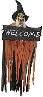 Amaae Halloween Scary Horror Haunted house light Costume Skull Witch dress up Prop(Color:Orange & Material:cloth)
