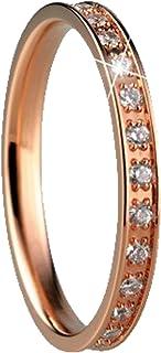 ladies-ring 锆石戒指北极 Symphony 不锈钢 Bering 白色室内556–37