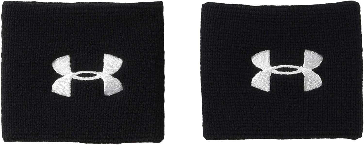 Under Now free shipping Armour Men's Bombing free shipping 3-inch Performance 2-Pack Wristband