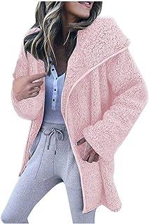 Bsjmlxg Winter Women Wide Lapel Trench Coat Long Sleeve Fuzzy Fleece Open Front Long Jacket Overcoat Outwear Cardigan