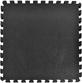 Greatmats Portable Interlocking Puzzle Pebble Top Foam 2x2 ft .75 Inch Thick Tiles Hobby Farm Horse Equine Stall Mats Floor Flooring, Black, 15 Pack