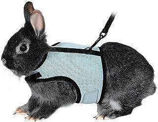 UEETEK Arnés suave con plomo para conejos Bunny elástica