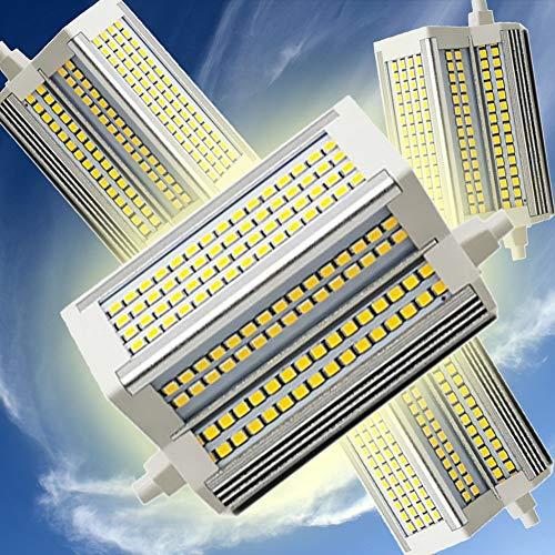 R7S Bombilla LED 118mm 50W Lámpara de Reflector Regulable Doble End J118 Bulb 3000-6000K Equivalente 500W lámpara halógena 220 Grados 110V-240V R7S Bulbos LED,3000k