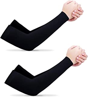 Home-Mart Cooling Arm Sleeves, 2 Pairs UV Protection Sleeves Cover for Men and Women for Cycling, Running, Football, Baske...