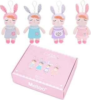"Me Too Baby Girl Gifts Doll Set for 0 1 Year Old Girls 4PCS 7"" Dolls in Gift Box Pink"