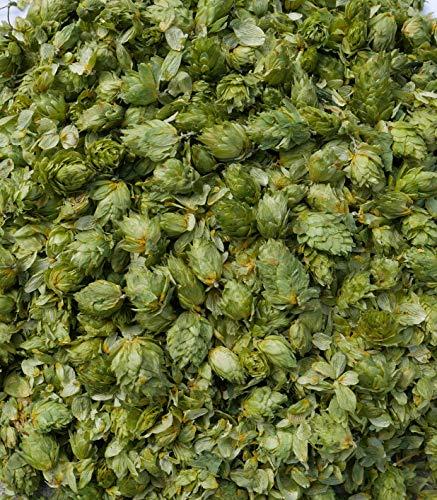 HopCol Naturhopfen Hopfen | Getrocknete Hopfenblüten aus der Hallertau | Hopfenzapfen zum Bierbrauen Hopfentee Hopfenkissen Brauen (Hallertauer Tradition, 60 GR)