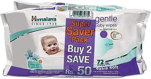 Himalaya Gentle Baby Wipes (72 Napkins of 2 packs) product image