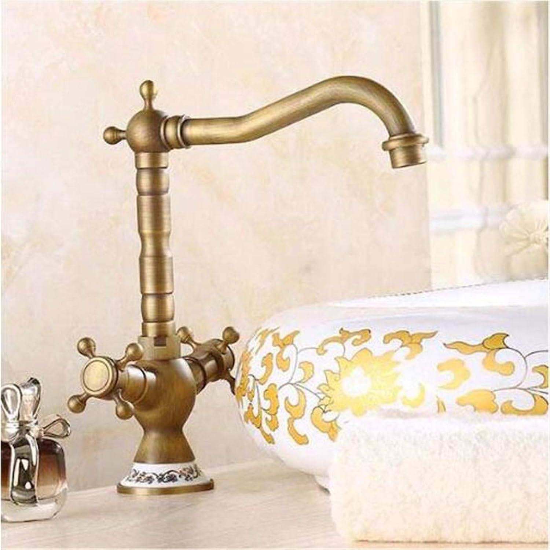 Faucet Basin Faucet Bathroom Faucet Kitchen Faucetbasin Faucets Antique Bronze Brass Bathroom Sink Faucet 360 Degree Swivel Dual Handle Kitchen Washbasin Mixer Taps Wc Taps ( color   - , Size   - )