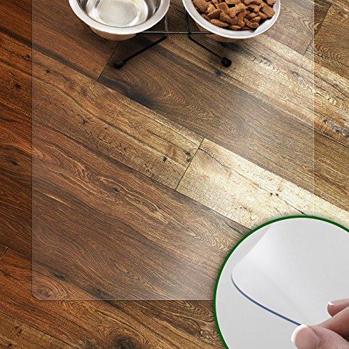 Napfunterlage für Hunde und Katzen | rutschfeste und abwaschbare Unterlegmatte | transparent | in vielen Größen | 48x30 cm