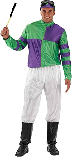 Fun Shack Herren Costume Kostüm, Jockey Grün & lila, L