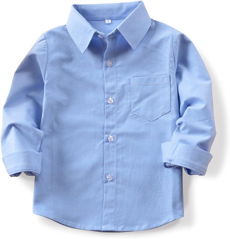 Boys' Short/Long Sleeve Cotton Shirt