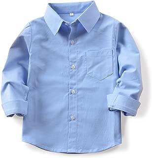 Camisa de Manga Larga para ni/ño GILLSONZ GA22 vDa 100/% algod/ón