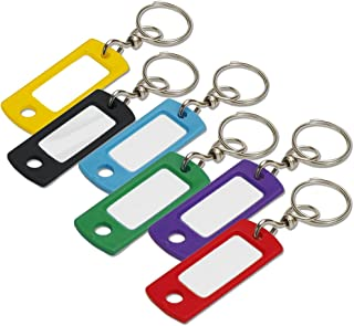 Lucky Line Key Tag with Swivel Ring, 200 Per Box Assorted Colors (16800)