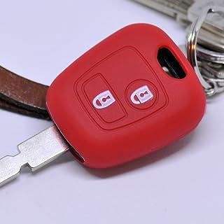 Funk llaves del coche funda rojo para Peugeot Partner 107 206 neg cc 406 307 funda protectora