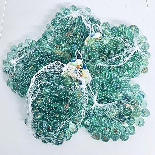Warenfux24 RPN 405 Stück Murmeln Glasmurmeln Knicker Glaskugeln Klicker Spielzeug Murmel Deko Dekoration Spielzeug für draußen Glas
