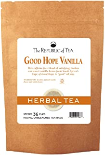 The Republic of Tea Good Hope Vanilla Tea, 36 Tea Bags, Non-Caffeinated, Gourmet Rooibos Red Tea Blend