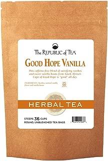 The Republic Of Tea Good Hope Vanilla Tea, 36 Tea Bags, Caffeine-Free, Gourmet Rooibos Red Tea Blend
